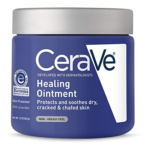 CeraVe 590101 Healing Ointment with Petrolatum Ceramides for Protecting and Soothing Cracked, 12 oz