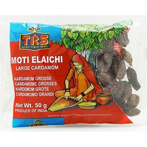 50g Large Black Cardamom Pods with Seed Smoky Flavour Moti Elaichi Soup Cooking Spices