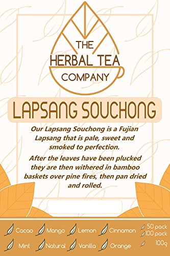 Lungwort Lapsang Souchong Tea Bags Organic with Mango Flavour 50 Pack