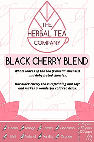 Lungwort Black Cherry Tea Blend Tea Bags Organic with Natural Flavour 25 Pack