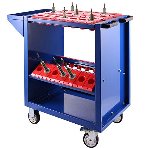 VEVOR BT40 CNC Tool Trolley Cart Holders Toolscoot Tooling Trolley Super Scoot Milling Rolling Tool Holder Blue Color