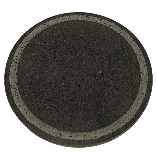 MY FRIEND SICILIA ETNEA Lava Stone Grill Round Diameter 35 cm with Grating - Ideal for Weber Type Barbecue or Smeg Oven