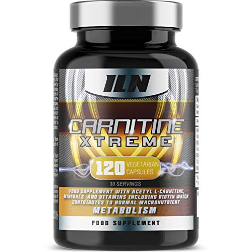 Acetyl L Carnitine - Carnitine Xtreme - 2000mg Acetyl L Carnitine x 30 Servings with Chromium, which contributes to normal macronutrient metabolism - 120 Vegetarian Capsules