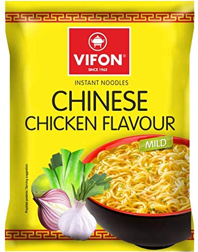 VIFON Chinese Chicken Noodles - Bulk Buy Chicken Instant Noodles Multipack of 24 - Suitable for vegetarians - Tasty And Time Saving Vietnamese Snack - 70G (24 Pack)