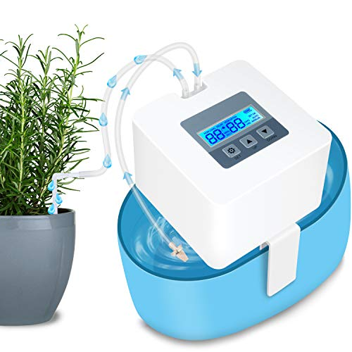 Automatic Irrigation System,Indoor Automatic Plant Watering System Automatic Plant Waterer,Battery & USB Power Operation Holiday Plant Watering Devices for Indoor Potted Plants(Upgraded)