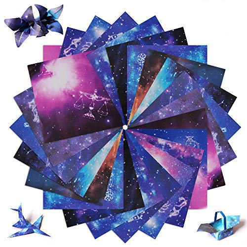 Origami Paper Double Sided, Night Sky Constellation Handcrafts Paper for Kids, 150 Sheets 15 X 15cm Square Decoration Paper for Arts and Crafts Projects