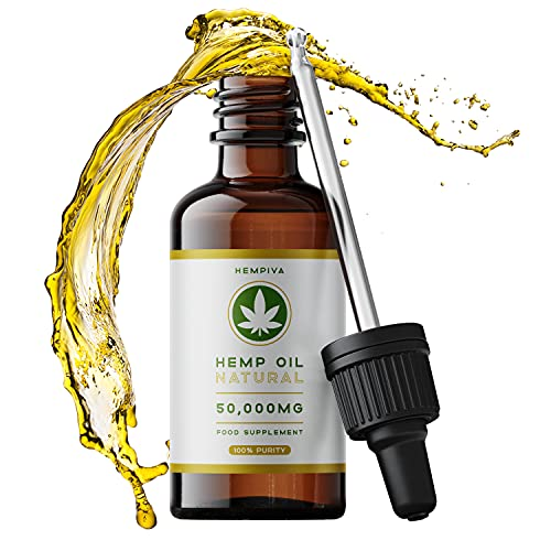 Organic Cold Pressed Hemp Oil Drops (50ml) Rich in Omega 3-6-9 - Helps Support, Sleep, Joints, Pain Relief Vegan Made in UK