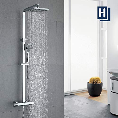 HOMELODY Shower Set Thermostatic 40 °C Mixer Shower Thermostatic with 8