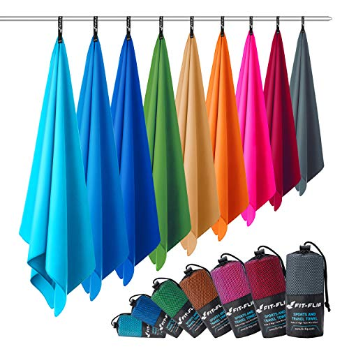 Microfibre towel – in 12 colours – compact & fast-drying – quick dry towels – the perfect lightweight beach towel and microfibre travel towel (30x50cm anthracite grey - without bag)