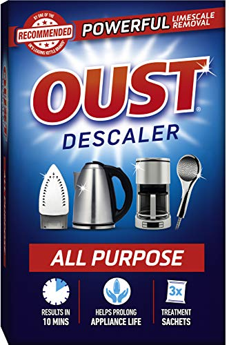 Oust Powerful All Purpose Descaler, Limescale Remover – Ideal for Kettles, Coffee Machines, Irons and Shower Heads (1 x 3 Sachets)