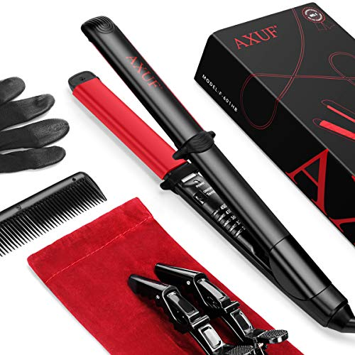 AXUF 2 in 1 Professional Hair Straightener and Curler in Titanium Ceramic Nano Tourmaline Flat Iron and For All Hair Types With Adjustable Temperature, 1 Inch Dual Voltage (UK specifications)