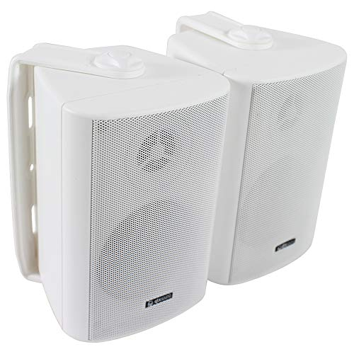 Adastra BC3W 3 Inch Wall Mountable Speakers Two-Way Home Audio Installation HiFi Stereo 60W White