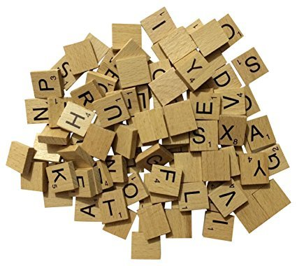 NMIT Wooden Tiles Full Set Of 100, Craft, Board Games, Jewellery Making Kit VARNISHED TILES