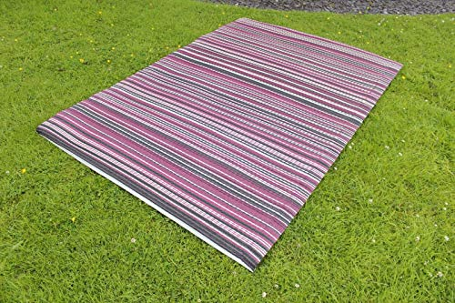 Garden Mile ® Large Al Fresco Area Rugs Indoor Outdoor Patterned Rug   Patio Terrace Balcony Hall Kitchen Carpet   Rugged and Water Resistant   100% Polypropylene Red