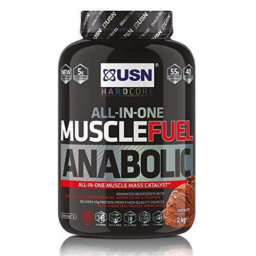 USN Muscle Fuel Anabolic Chocolate 2KG, Performance Boosting Muscle Gain Protein Shake Powder