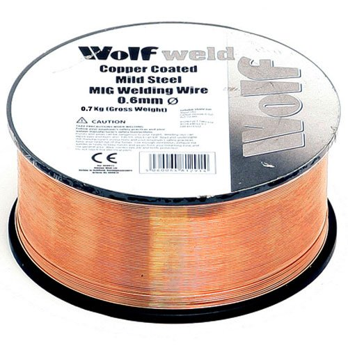 Wolf Welder 0.6mm MIG Wire Spool Copper Coated Mild Steel for Repair Work and Fabrication