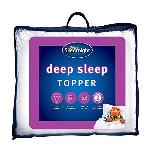 Silentnight Deep Sleep Double Mattress Topper - Best Thick Soft Comfy Toppers For Bed Caravan Campervan Sofa Beds - Machine Washable Hypoallergenic Bed Topper