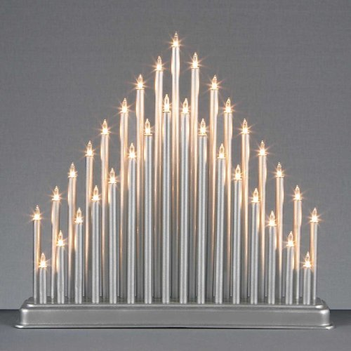 Beautiful & Attractive 33 LIGHT SILVER CANDLE BRIDGE TOWER