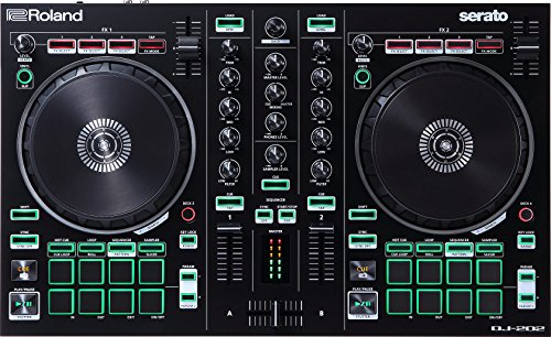 Roland Dj-202 Dj Controller, Two-Channel, Four-Deck Controller for Serato Dj Lite - The Roland Drum Machine Legacy In A Dj Controller