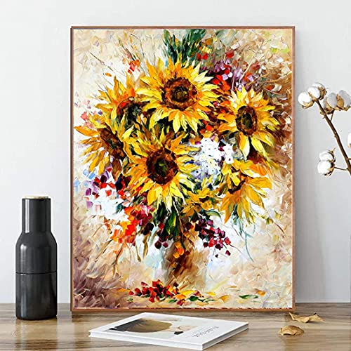 DIY Paint by Numbers for Adults DIY Oil Painting Kit for Kids Beginner - Sunflower 16