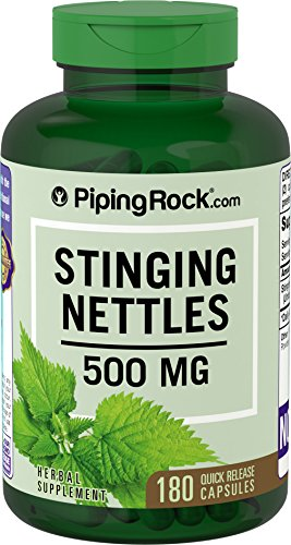 Stinging Nettle - 2000mg - 180 Capsules - (Urtica dioica) Big Bargain Bottle - Fast Free P&P