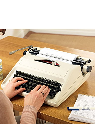 Portable Typewriter with Case and 2 Extra Replacement Ribbons Cream Set