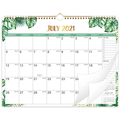 2021-2022 Wall Calendar - 2021-2022 Yearly Wall Calendar, July 2021- December 2022, 37.6 x 29 cm, 18 Months Calendar, Large Ruled Blocks Perfect for Planning and Organizing for Home or Office