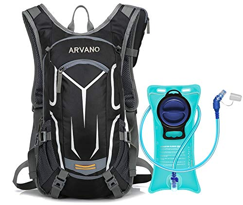 Arvano Hydration Backpack, Bike Backpack with 2l(70 Oz) Water Bladder, Lightweight Rucksack for Cycling Running Hiking Climbing Camping Skiing Pack