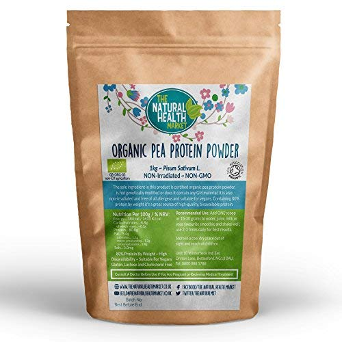 Organic Pea Protein Powder 1kg By The Natural Health Market • 80% Vegan Protein