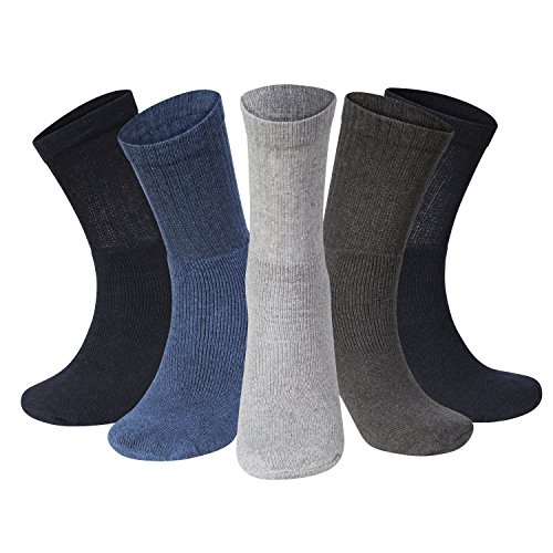 Men Sport Socks Size 6-11 Coloured Thick Cotton Cushion Crew Compression Ankle Large Pack For Under Trainer Blister Armour