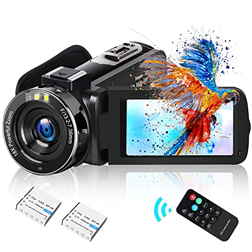 Video Camera Camcorder DIWUER 2021 Upgraded Full HD 1080P 30MP Vlogging Camera For YouTube 18X Digital Zoom 3.0