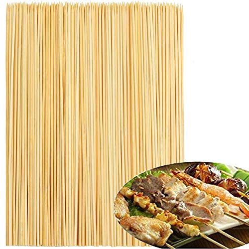 OWill 10inch 200 pcs bamboo sticks suitable for barbecue skewers fruit skewers and other gathering places