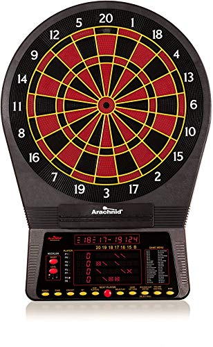 Arachnid Cricket Pro 800 Electronic Dartboard with NylonTough Segments for Improved Durability and Playability and Micro-thin Segment Dividers for ReducedBounce-outs, Black