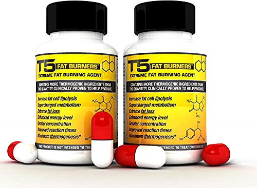 x2 T5 Fat Burners : Strongest Legal Diet & Weight Loss Pills (2 Month Supply) + 5 Free T5 Fat Burning Patches