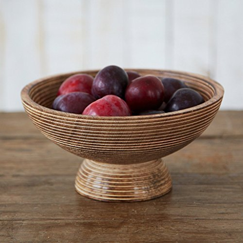 Paper High Hand Carved Makula Raised Design Mango Wood Fruit Bowl | Fair Trade | Handmade | Sustainable Wooden Table Bowl