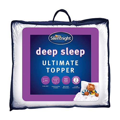 Silentnight Ultimate Deep Sleep Topper - Extra Thick Deep Mattress Topper Luxury Cotton Soft - Machine Washable Support Bed Toppers Covers Pad