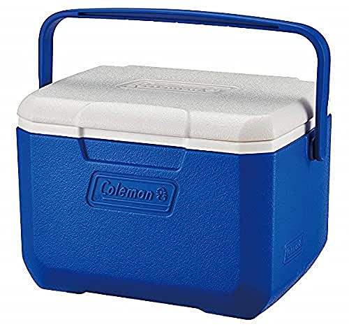 Coleman Performance 6 Personal Cooler, NEW MODEL with hinge lid design, 4 Litre, Small Cool Box for Food and Drinks, Robust Ice Box, for 6 Small Cans, Stays up to 9 Hours Cool, Lightweight Cooler Box