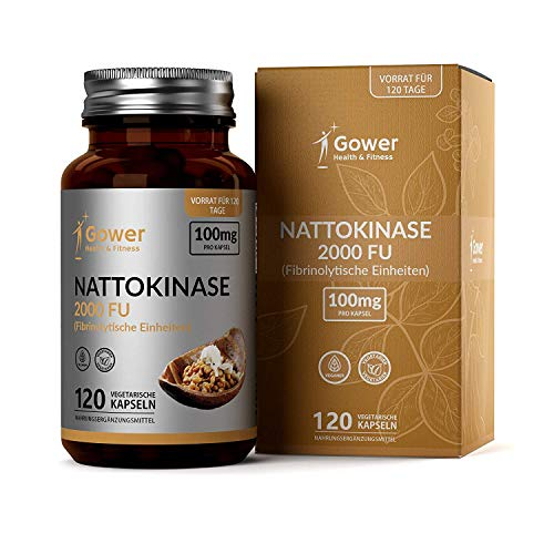 GH Nattokinase 100mg Capsules | Natto Extracted from Fermented Soybeans 2000 FU | 120 Vegan Capsules | Manufactured in ISO Licenced Facilities | Non-GMO, Dairy Free & Gluten Free
