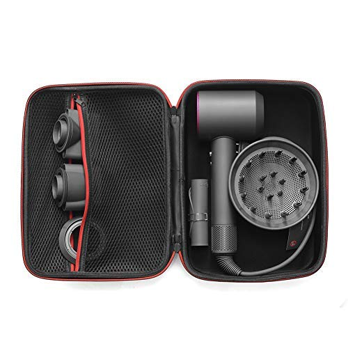 Xingsiyue Travel Case for Dyson Supersonic HD01 HD03 Hairdryer - Zipper Carrying Hard Box Fits 4 Nozzles and 1 Hair Dryer