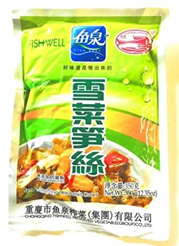 FISH WELL Mustard with Bamboo Shoot, 350 g