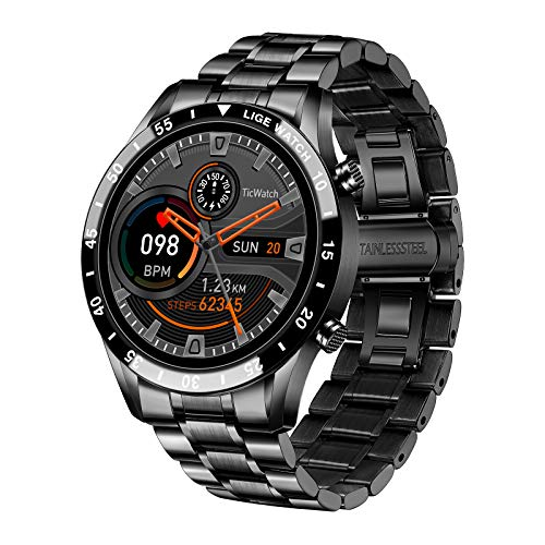 LIGE Smart Watch for Men, Bluetooth Calls Voice Chat Fitness Tracker with Blood Pressure Heart Rate Sleep Monitor,1.3