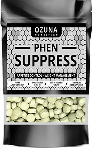 PHEN Suppress Appetite Suppressant - Max Strength Appetite Reducing Pills - Proven Formula - Weight Management Pills | 100 Tablets