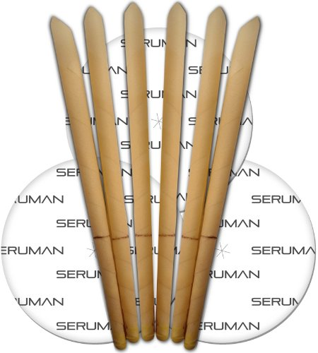 Seruman Therapeutics Natural Ear Candles (3 Pairs) with Protective Discs