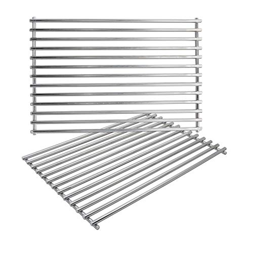 GFTIME 43.8 CM 7527 Grill Cooking Grate for Weber Spirit E310 E320 S310 S320 Spirit 300 Series, Stainless Steel Gas Grill Grid Replacement Parts for Weber Spirit 700, Weber Genesis B and C, 2 Pack