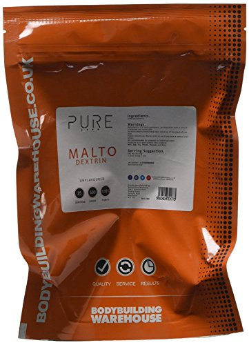Bodybuilding Warehouse Pure Maltodextrin Carbohydrate Powder - Replenishes Muscle Glycogen Levels - Unflavoured 500 g   White