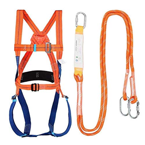 Full-Body Safety Harness Set - Fall Protection Roofing Bucket Kit with Vertical Rope - Construction Fall Arrest Kit for Roofers & Construction Workers