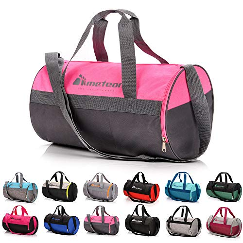 sports bag gym bag 25 L holdall shoe compartment pocket men women duffel shoulder fitness bag swimming pool bag travel holiday sport bag cabin luggage overnight camping kit bag small pe duffle