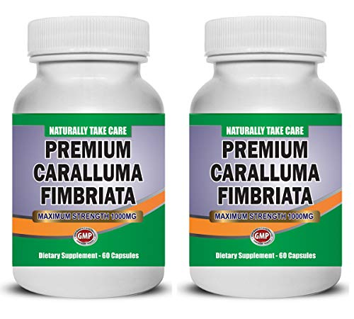NaturallyTakeCare Caralluma Fimbriata Supplement for Weight Loss and Fitness. Believed to be a Metabolism Booster, Appetite Suppressant and Fat Burner. Natural Vegetarian.