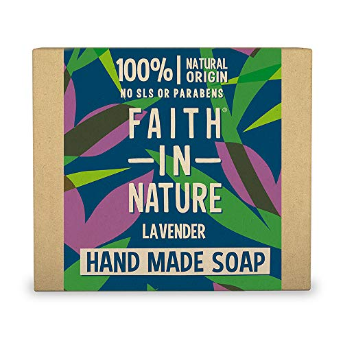 Faith In Nature Natural Lavender Hand Soap Bar, Nourishing, Vegan and Cruelty Free, No SLS or Parabens, 100 g