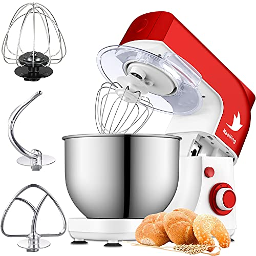 Nestling 5L 800W Stand Mixer with Mixing Bowl, 6 Speed Tilt-Head Kitchen Electric Mixer, Dough Hook, Whisk, Beater for Wheaten Food, Salad, Cake